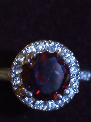 Large Garnet halo ring for Sale in Akron, OH