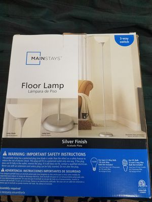 Mainstays 71 inch silver floor lamp for Sale in Murray, UT
