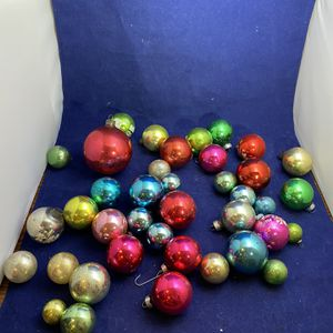 Vintage Lot Of 39 Christmas Glass Ball Colorful Ornaments for Sale in Morrisville, PA