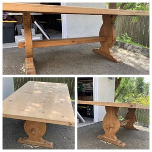 """Rustic mission style, farmhouse trestle dinning table 76""""L x 42""""W x 29""""H for Sale in Vista, CA"""
