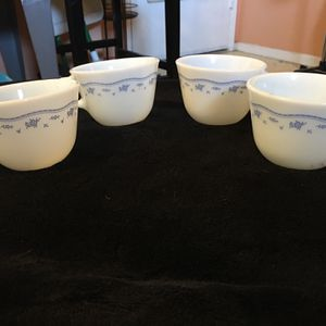 Pyrex Morning Blue Flower Cups for Sale in Sun City West, AZ