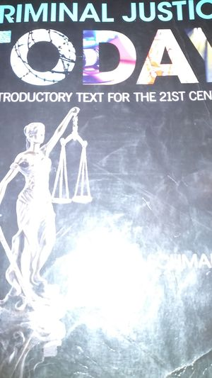 Criminal justice today text book for Sale in New Bern, NC