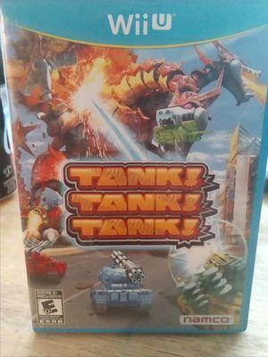 Nintendo Wii U Game Tank! Tank! Tank! for Sale in Vancouver, WA