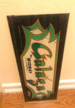 Original Galaga Arcade Game Marquee for Sale in Anaheim, CA
