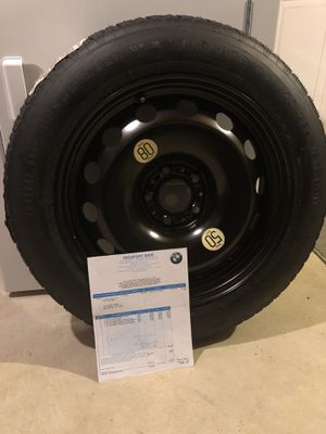 Brand new(never used)BMW X5 spear tire I purchased from BMW dealership store as confirmed for the posted receipt,but didn't know I won't ever use it. for Sale in Washington, DC
