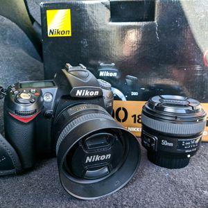 Nikon D90 with 2 Lenses for Sale in San Bernardino, CA