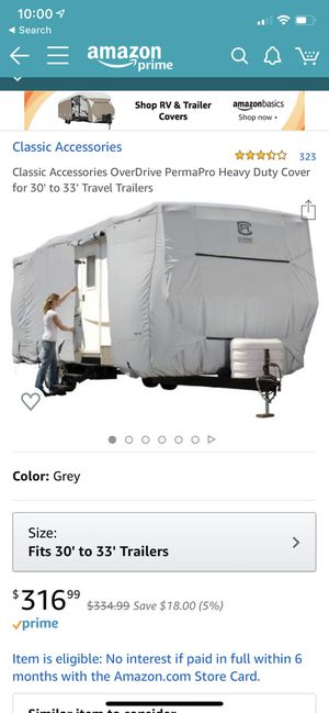 New Never Opened Travel Trailer Cover 30'-33' for Sale in Portland, OR