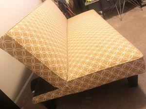 Modern Link Pattern Futon; Mustard Yellow for Sale in Phoenix, AZ