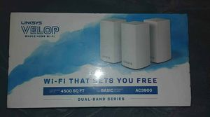 Unopened linksys velop dual band 3 routers internet for Sale in Englewood, CO