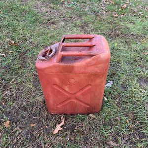 Vintage Red Gas Can 5 gallon Fuel Jerry truck Jeep military for Sale in Waterbury, CT