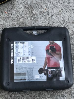 """Dumbbell kit 20kg / 44lbs with bar 1"""" inch for Sale in San Leandro, CA"""