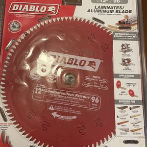 DIABLO 12 in. x 96-Tooth Laminate/Non-Ferrous Metal Cutting Saw Blade for Sale in Salem, OR