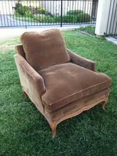 Vintage Antique Brown Chair Down Cushion for Sale in San Diego, CA