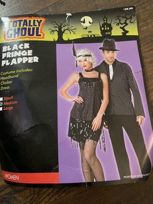 Black fringe flapper costume size medium for Sale in Rehoboth, MA