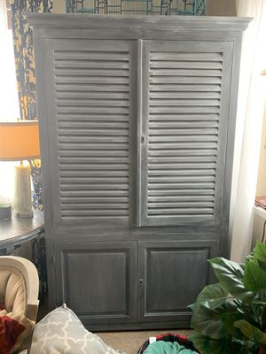 Large gray cabinet for Sale in Brighton, CO