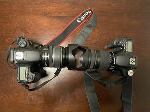 Canon 60D and 50d camera body bundle with 17-85mm and 18-135mm lenses for Sale in Houston, TX