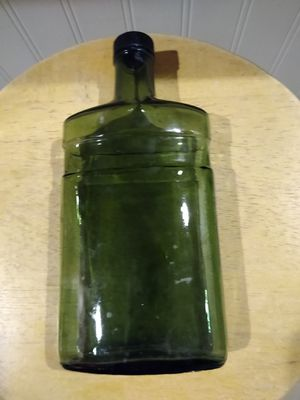 White Satin Antique Green Bottle for Sale in Charleroi, PA