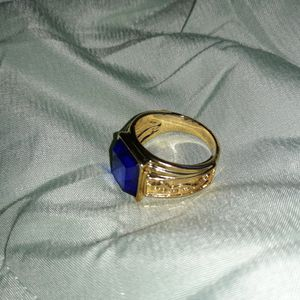 Golden Dragon Blue Sapphire Unisex Ring, Size 8. for Sale in Dallas, TX