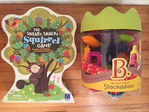 Kids toys Sneaky Squirrel Board Game & Bristle Blocks for Sale in Beverly Hills, CA