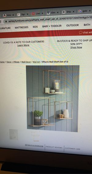 Ashley Furniture wall shelves (set of 3) for Sale in Los Angeles, CA