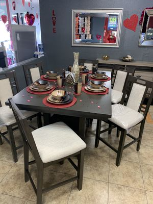 ‼️TAX SEASON SALE‼️ BEAUTIFUL 7 PIECE HIGH DINNING SET ‼️ONLY $899 for Sale in Hesperia, CA