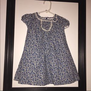 24 m / 2T Imported, Boutique Blue Petite Flower Prairie Dress for Sale in Bountiful, UT