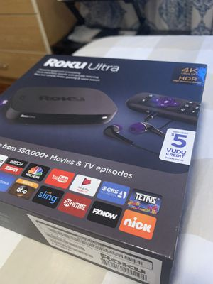 Roku Ultra 4K HDR with headphone jack for private listening for Sale in Burbank, CA