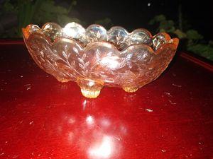 Carnival glass dish, vintage, very nice for Sale in Rancho Santa Margarita, CA