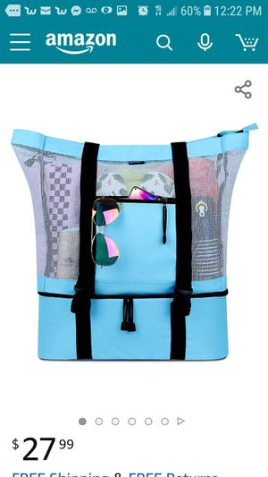Brand new beach bag with detachable cooler for Sale in Henderson, NV