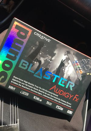 Sound blaster audigy fx for Sale in Washington, DC
