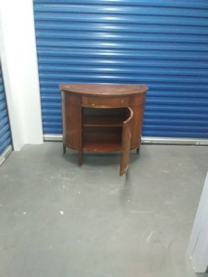 Antique wood cabinet buffet brown vintage diy sand stain for Sale in Takoma Park, MD