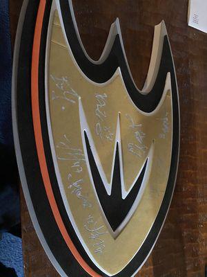 Anaheim Ducks singed Ducks fan foam for Sale in Costa Mesa, CA