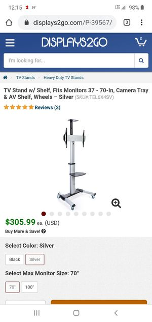Displays2go TV Stand w/Locking Wheels for Sale in North Providence, RI
