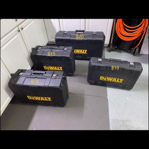 DeWalt empty tool boxes. for Sale in Beachwood, NJ