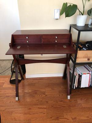 Cherry wood secretary flip-top desk for Sale in San Francisco, CA