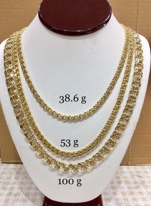 10 Karat Gold Chino links chain handmade 26 inches and 24 inches #ch107TD for Sale in Houston, TX