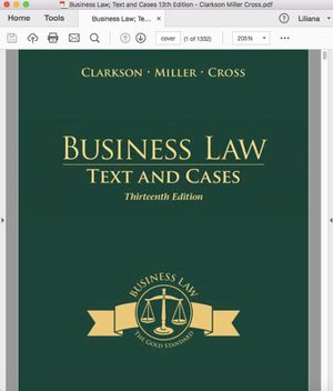 Business Law Text and Cases 13th Edition for Sale in El Monte, CA