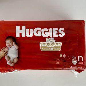 Huggies Little Snugglers Newborn Diapers for Sale in Oak Hills, CA