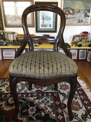 Mahogany Balloon Back Chair Victorian Style by Colonial Furniture Company for Sale in Blue Bell, PA