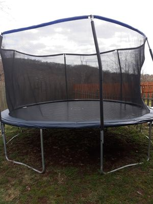 OUT-SIDE kids trampoline w/ safety fence for Sale in Phoenixville, PA