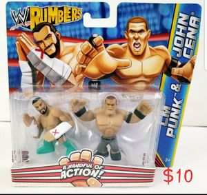 CM PUNK & JOHN CENA WWE Rumblers two-inch Mattel action figures New for Sale in Covina, CA