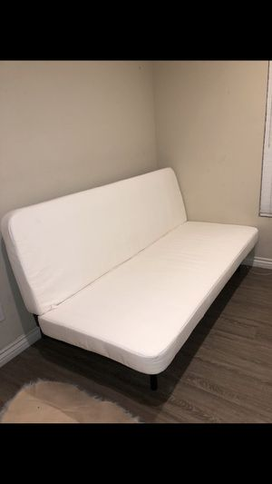White futon on black metal frame for Sale in Chula Vista, CA