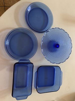 Blue serving dishes for Sale in San Diego, CA