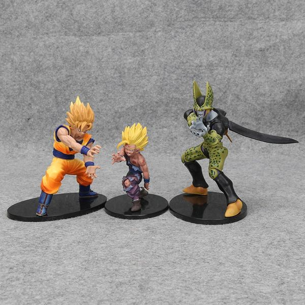 Anime Dragon Ball Z Action Figure Gohan Collectible Model Toy Dramatic Showcase Figure Toys 5in