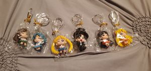 Sailor Moon 6pcs/set Keychain Keyring Action Figures Toy Collectible Cosplay for Sale in Los Angeles, CA