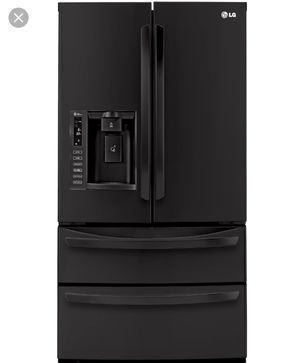 LG Fridge and GE black kitchen package (gas range) for Sale in West Valley City, UT
