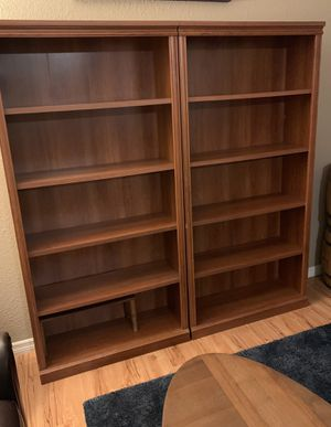 Two Medium Wood Bookshelves for Sale in Tampa, FL