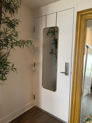 """Over the door metal brass mirror 15""""x51"""" for Sale in Los Angeles, CA"""