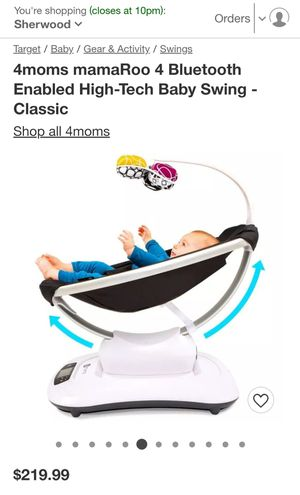 Mamaroo 4 mom Baby Swing🥳 for Sale in Tigard, OR