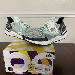 Brand New Adidas Ultraboost 2.0 Mint & Grey Size 9 for Sale in Chapel Hill, NC